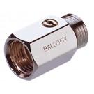 Mini-Kugelhahn Ballofix Innen-/Außengewinde - Chrom - DN 6 - RG 1/4''