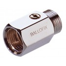 Mini-Kugelhahn Ballofix Innen-/Außengewinde - Chrom - DN 15 - RG 1/2''