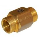 Mini-Kugelhahn Ballofix Außen-/Außengewinde - Messing - DN 15 - RG 1/2''